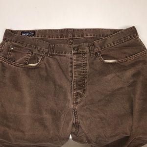 Patagonia Organic Cotton Iron Clad Brown Jeans